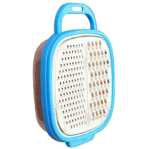 Cheese Box Grater & Storage Container - Blue